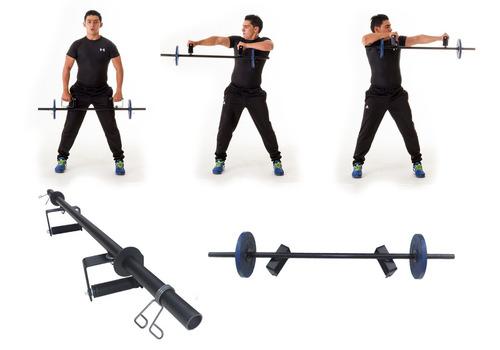 barra de pesas funcional mas de 20 ejercicios gym
