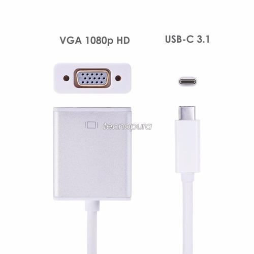 cable adaptador usb tipo c 3.1 a vga - mac windows chrome
