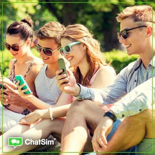 chatsim +1 año de chat global + gratis recarga de 7 dolares