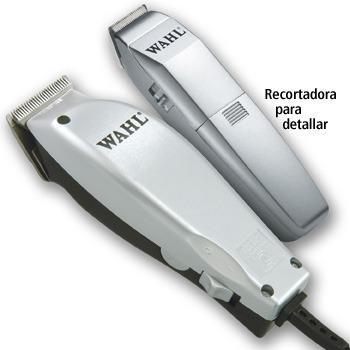 combo peluquera +cortadora patillas nuca wahl 14 piezas guia