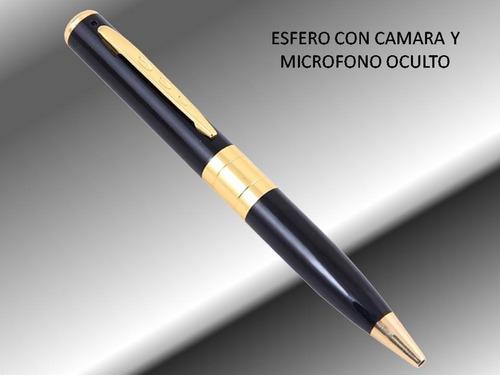 esfero bolígrafo lapicero con cámara espía + memoria de 8g