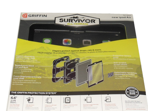 estuche antigolpes 3 capas survivor todoterreno ipad  air 2