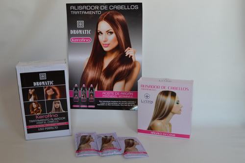 keratina - alisador de cabellos - kit x 20 ml  laxios