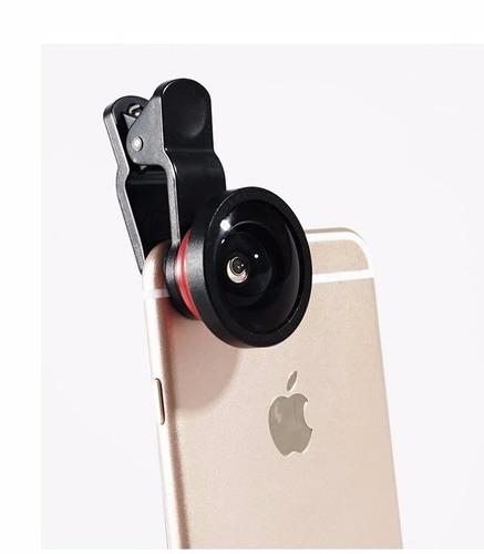 kit lentes 4 en 1 lieqi® 8x, panorámico, macro, ojo +estuche