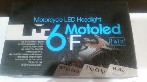 kit luz bombillo led m6f 4000 lumens h4 nuevo modelo moto