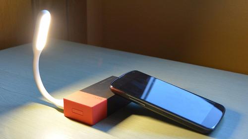 lampara usb luz led flexible computador pc powerbank