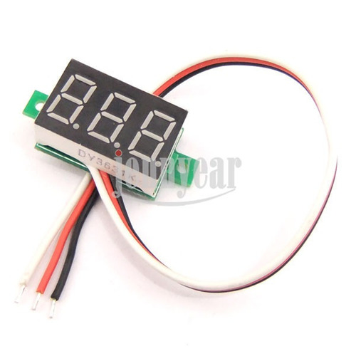 mini voltímetro digital  0-99v dc led rojo autos motos panel