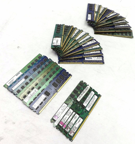 outlet! memoria ram ddr2 2gb 667 800 - pc - 12 meses de gtia