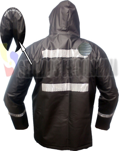 traje impermeable 4 piezas, p.v.c. termosellado, cuellero.