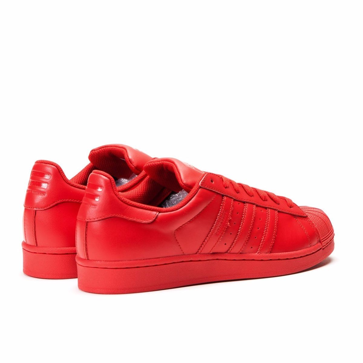 zapatillas adidas superstar rojas
